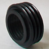 Black Internal Rubber Flush Pipe Cone - European - 08000698